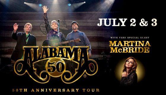 More Info for ALABAMA with very special guest Martina McBride