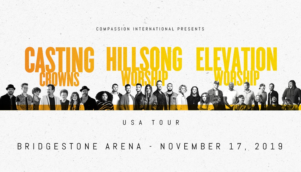 Casting Crowns, Hillsong Worship and Elevation Worship