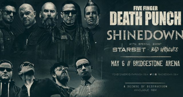 Five Finger Death Punch Amp Shinedown Bridgestone Arena