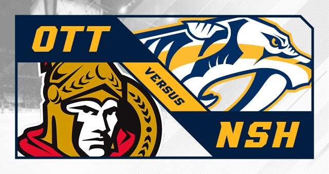 More Info for Nashville Predators vs. Ottawa Senators