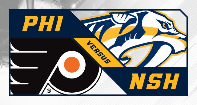 nashville predators vs philadelphia flyers bridgestone arena