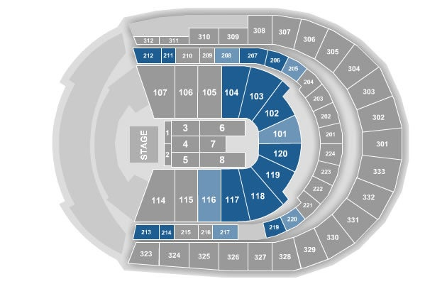Seating Charts | Bridgestone Arena