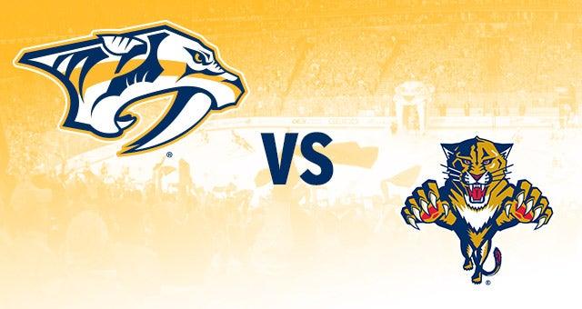 Nashville Predators Vs Florida Panthers Bridgestone Arena