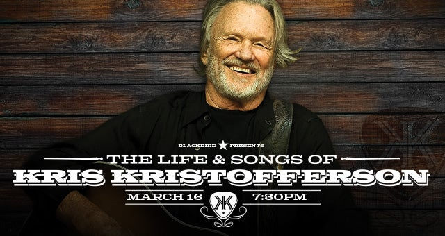The Life Amp Songs Of Kris Kristofferson Bridgestone Arena
