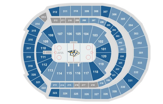 Predators Seating Chart