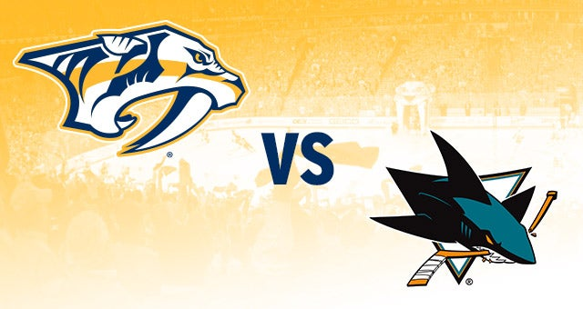 Nashville Predators vs San Jose Sharks Bridgestone Arena